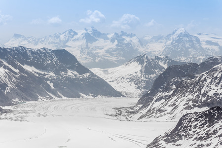 aletsch: Aletsch Glacier landscape in the Jungfraujoch, Alps, Switzerland