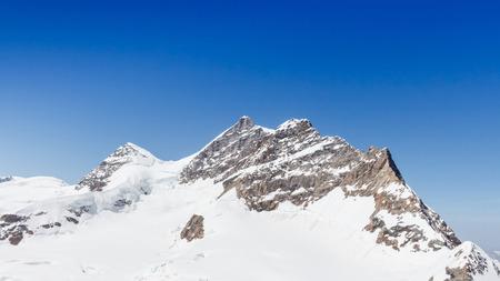 jungfraujoch: Swiss Alps mountain landscape, Jungfraujoch, Switzerland Stock Photo