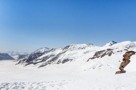 aletsch: Aletsch Glacier landscape in the Jungfraujoch, Alps Mountain, Switzerland