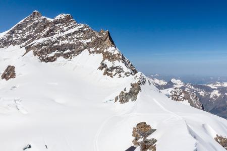 jungfraujoch: Swiss Alps mountain landscape Jungfraujoch Switzerland