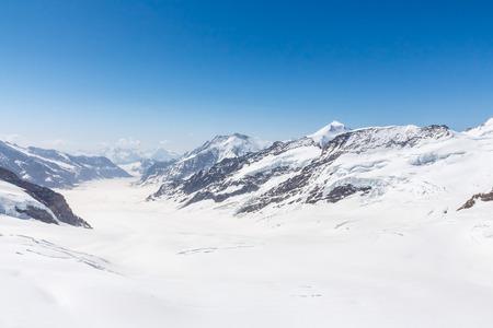 aletsch: Aletsch Glacier landscape in the Jungfraujoch Alps Switzerland