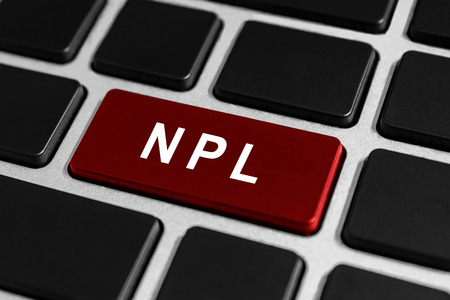 NPL or Nonperforming Loan red button on keyboard, business concept Stock Photo