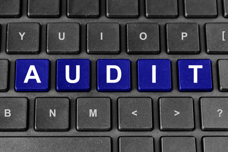 audit: accounting or tax audit blue word on keyboard