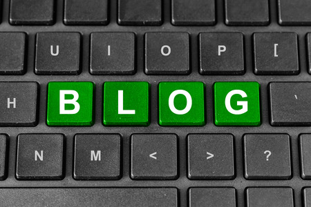 blog word on keyboard, technology concept