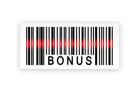additional compensation: bonus barcode label with shadow on white background