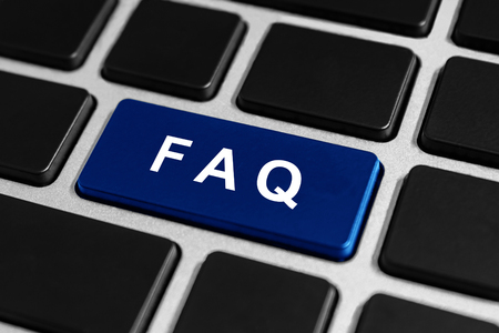 FAQ or Frequently asked questions button on keyboard, business concept