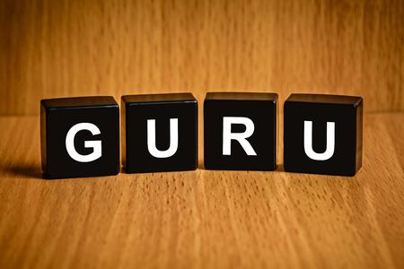 black block: Gur� o experto, el texto principal en el bloque negro