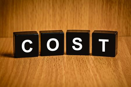 black block: accounting cost text on black block