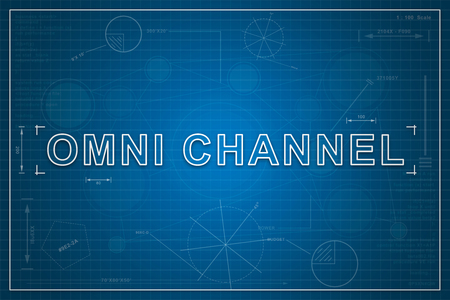 Omni channel on paper blueprint background business concept stock omni channel on paper blueprint background business concept stock photo 65178364 malvernweather Image collections