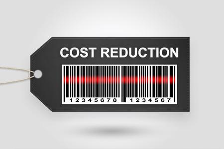 costo de etiqueta de precio reducción con código de barras y fondo gris degradado radial
