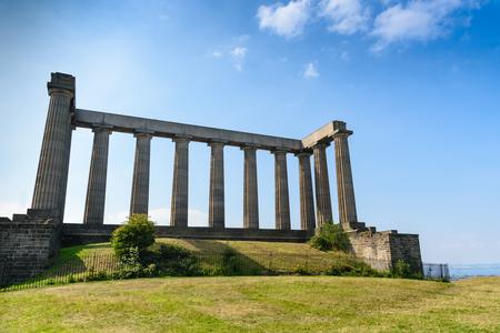 unfinished building: view of National Monument of Scotland, Calton Hill, Edinburgh, Scotland
