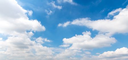 panorama blue sky background with clouds Stock Photo