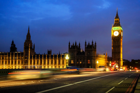 Big Ben Clock Tower and House of Parliament in the night, London, England, UK
