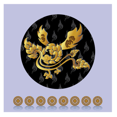 legendary: Thailands legendary bird pattern Heavenly Homes Illustration