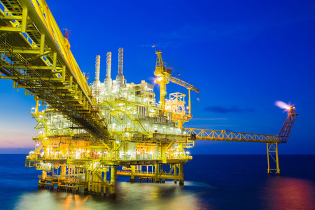 Oil and Gas processing platform that produce natural gas and condensate.