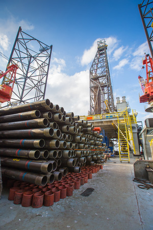 offshore jack up rig: Tubing casing and pup joint of oil and gas well on drilling rig,oil and gas platform completion