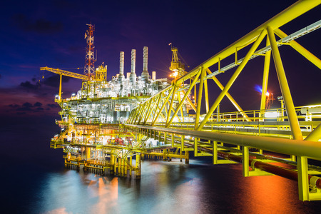 Origin of world energy and pretochemical,Oil and gas processing platform produced gas and crud oil condensate and sent to onshore refinery.