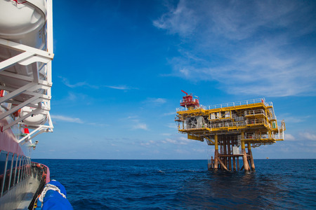 wellhead: Oil and gas wellhead remote platform in the gulf of thailand,oil and gas industry