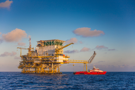 Oil and gas industry in the gulf of Thailand comprised of Living quarter or accomodation platform,oil and gas central processing platform and wellhead remote platform.