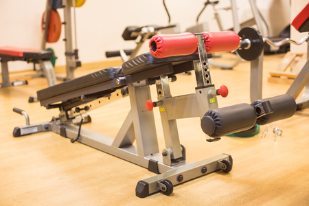 sixpack: Abdominal exercise equipment for build sixpack muscle Stock Photo