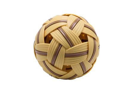 Sepak takraw ball isolate on white background