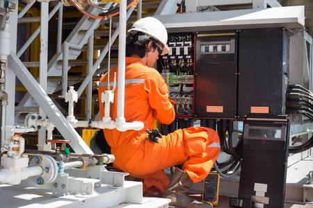 Elektro-und Instrumenten-Techniker nur Wartung elektrische Anlage Standard-Bild