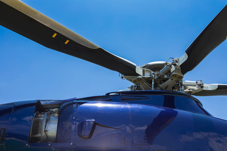 oil and gas industry: Helicopter head and blades with turbine jet engine