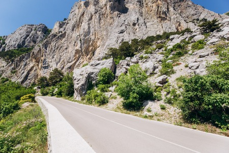 Scenic road in the mountains. Summer. - Image