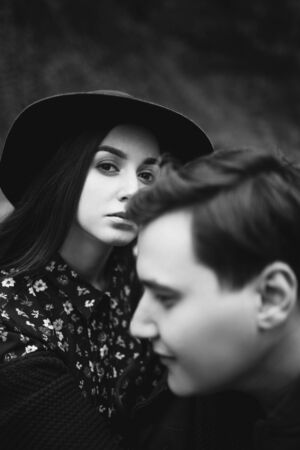 A loving, stylish, young couple in love. Reklamní fotografie