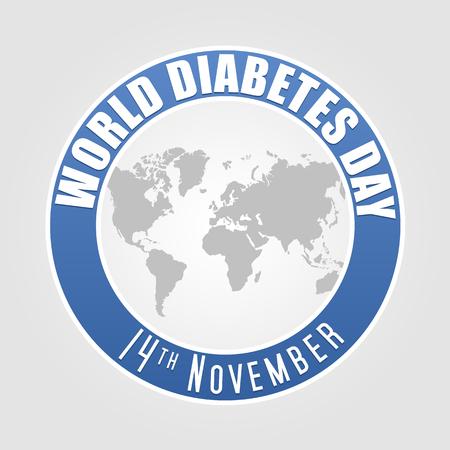 World Diabetes Day illustration. Illustration