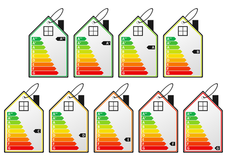 Energy efficiency labels. EPS10 vector illustration.
