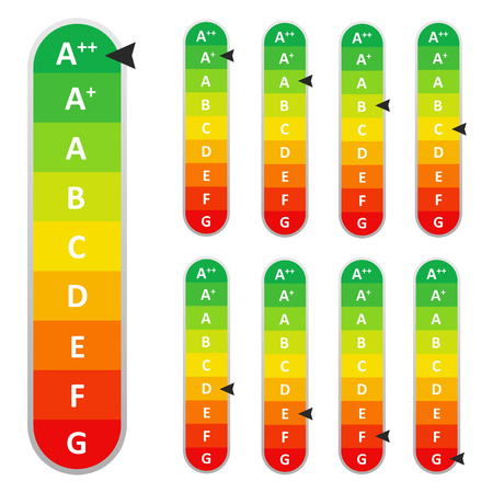 Energy Efficiency rating. Eps10 Vector. Ilustrace