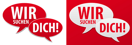 We are looking for you speech bubble. Eps10 Vector.
