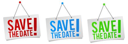 Save the Date - Wiszące tabliczki na drzwi.