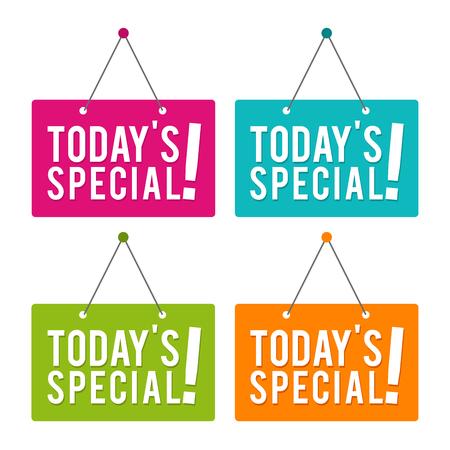 Todays Special hanging Door Sign.