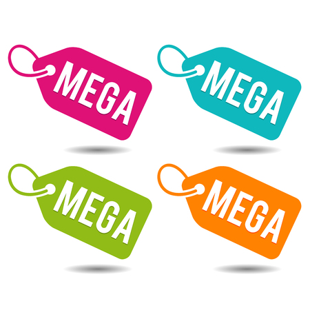 Mega price tags. Stock Vector - 93464801