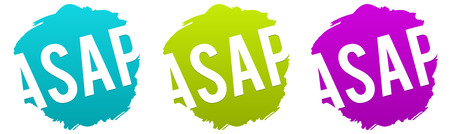 ASAP - As soon as possible Vector Badge.