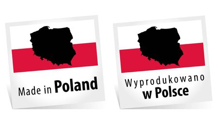 Made in Poland with Flag
