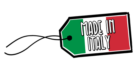 Made in Italy Label.