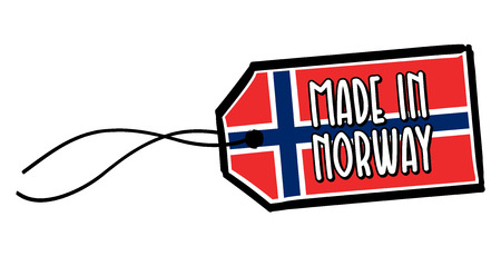 Made in Norway Label. Vectores