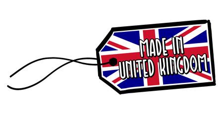 Made in United Kingdom Label.