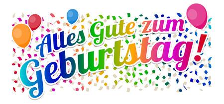 Alles Gute zum Geburtstag - vecteur de joyeux anniversaire. Vecteurs