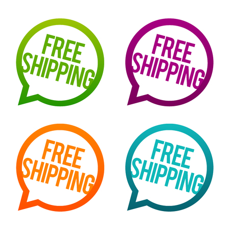 Free Shipping round Buttons.
