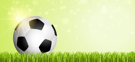 Fussball auf Spielfeld 2018
