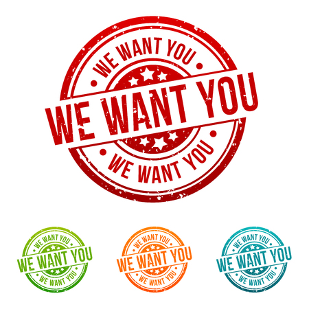 We want you Stamp in different colours.