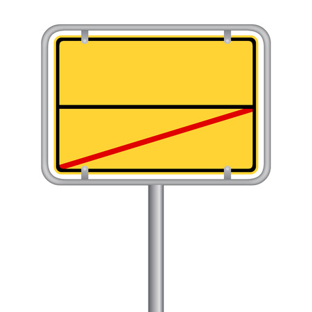 yellow signboard Vector illustration isolated on white background. Vettoriali
