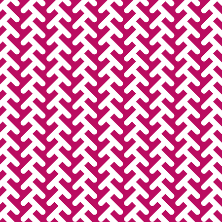 Geometric seamless Vector Pattern. Pink and white Background.