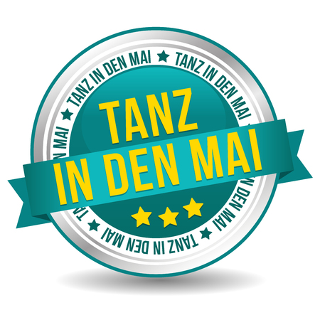 Tanz in den Mai Feiertag web Button.