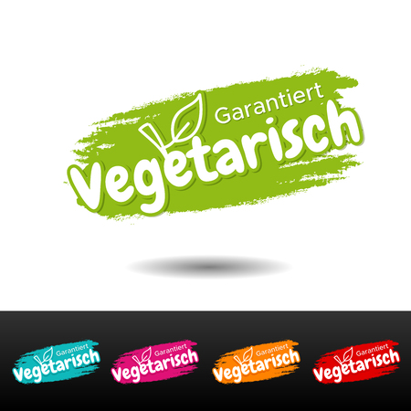 Garantiert vegetarisch Banner Set. Eps10 Vektor. Illustration