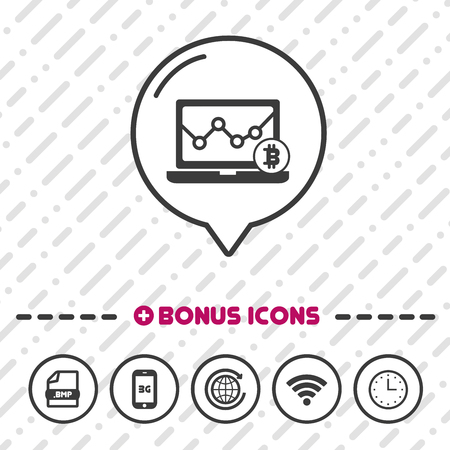 Electronic wallet icon. Bitcoin symbol.